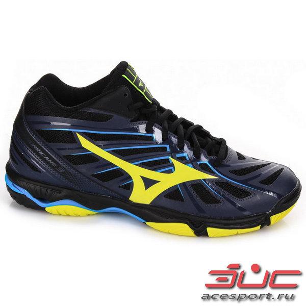 Кроссовки волейбольные MIZUNO V1GA1745 47 WAVE HURRICANE 3 MID a6cb2bb7556
